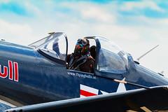 Red Bull Corsair pilot (Paul Braham Photography) Tags: redbull fighter aircraft pilot naval corsair aeroplane