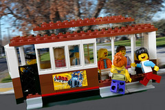 Benny: I'm falling... (Lesgo LEGO Foto!) Tags: lego minifig minifigs minifigure minifigures collectible collectable legophotography omg toy toys legography fun love cute coolminifig collectibleminifigures collectableminifigurecars carproject project moc creation myowncreation build cablecar cable car sanfrancisco sf sfcablecar benny happybenny city tram