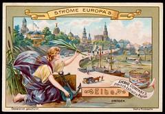 Liebig Tradecard S557 - The River Elbe (cigcardpix) Tags: tradecards advertising ephemera vintage liebig chromo