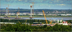 Mersey Gateway Project (All Three Pylons & Southern Approach Viaduct ) 26th August 2016 (Cassini2008) Tags: merseygatewayproject merseylink bridgeconstruction rivermersey widnes runcorn