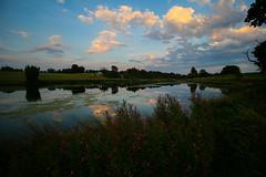 Colours (Costigano) Tags: sky clouds sunlight light lake river water outdoor ireland kildare irish carton reflection canon eos