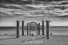 The Ghost of Brighton. (Emily_Endean_Photography) Tags: brighton westpier pier old architecture sculpture remains mono monochrome blackandwhite beach coast sussex nikon seaside sea