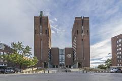 Oslo Rathaus 1 (PatrickHansy) Tags: oslo norway norwegen norge skandinavia skandinavien fjord buildings sea europe europa ship schiff holmenkollen skispringen skijumping christiania