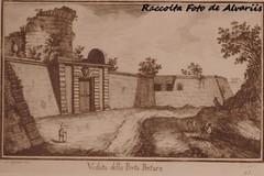 1779 Veduta della Porta Pertusa  di G. Cassini. (Roma ieri, Roma oggi: Raccolta Foto de Alvariis) Tags: portapertusa raccoltafotodealvariis 1779 digcassini quartiereaurelio sanpietro cittdelvaticano roma rome italy