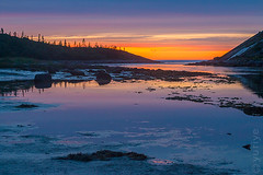 Low tide (yuriye) Tags: yuriye ngc          reflection north russia whitesea seascape water sea mirror dusk twilight sky sunset lapland kuzova island archipelago