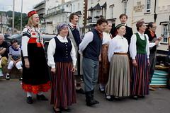 Dance Displays @ Sidmouth Folk Week (2016) 25 - Folk Dance Group Dandari (KM's Live Music shots) Tags: worldmusic latvia folkdancegroupdandari sidmouthfolkweek esplanadesidmouth