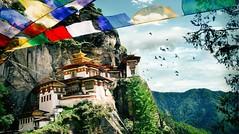 5 Reasons You Must Visit Bhutan: The Last Shangri-La1 (mohanrajdurairaj) Tags: taktsangmonastery prayerflag buddhism ancient famousplace architecture paro bhutan asia himalayas mountain monastery templebuilding palace monument fort tigersnest taktshang