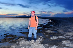 Oops (Great Salt Lake Images) Tags: summer sunset selfie wetjeans antelopeisland bridgerbay greatsaltlake utah