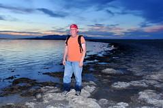Oops (Great Salt Lake Images) Tags: summer sunset selfie wetjeans antelopeisland bridgerbay greatsaltlake utah