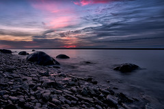A Hecla Sunrise (Jim.J.H) Tags: lakewinnipeg summer rocks sunrise clouds stones heclaisland