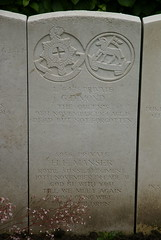 G. Dimond, Royal West Surrey Regiment; H.F. Manser, Royal Sussex Regiment; 1914, War Grave, Poperinghe (PaulHP) Tags: war graves headstone marker world one first belgium cwgc old poperinghe military cemetery service number ww1 g george dimond private l6478 9th november 1914 queens rwsr royal west surrey regt regiment 2nd bn battalion charles clara 44 priory rd road south lambeth london hf henry frederick manser 8056 10th sussex ada amelia hoare 25 baxter st street brighton