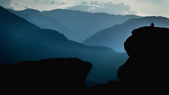 Where nobody hides (Particelle elementari) Tags: night time wait man solitude alone dreams meteore grecia greece