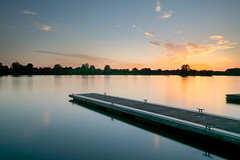 Calm (Russell Discombe) Tags: south cerney cotswolds water park sunset sun lake jetty longexposure ndfliter 10stop sigma1020mm nikon nikond3300 calm peaceful cirencester gloucestershire trees sky