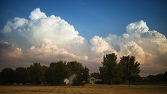 Vermont Skies (jasohill) Tags: us trees adventure 2016 storm vermont willistonvertical life expanse city sky cumulonimbus nautre town clouds