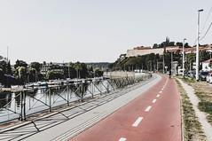 (adampodr) Tags: prague city cam film vsco presets photography river blue white red vltava