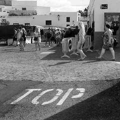 P1080004-1 (Lawrence Holmes.) Tags: lumix g2 1442 blackandwhite lanzarote 1x1 girl lawrenceholmes
