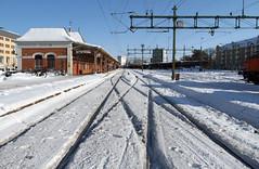 Karlstad 2010-02-23 (Michael Erhardsson) Tags: karlstad ks bangrd station vinter sn februari 2010