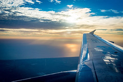 Sunsets over the wings... (fabioseda) Tags: 500px alitalia calabria italia mar sea sol summer sun viagem airplane calabriainfoco sunlight sunset travel wing