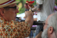 Santa Fe Bandstand 2016 (Sacker Foto) Tags: santafe bandstand 2016 newmexico blury hand focus stage music colorful saturation bright men tattoo
