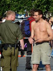 . (AFIK  BERLIN) Tags: shirtless guy ass nude happy cops police lad bulge ragazzo erkek shab