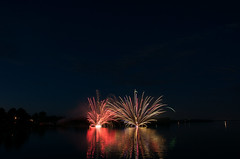 Fireworks FX, Long Sault, Ontario, July 1, 2012 (lynn.h.armstrong) Tags: camera bridge blue red sky white ontario canada art water st reflections river lens geotagged photography gold lights 1 photo lawrence interesting mac aperture nikon long flickr waterfront zoom fireworks south july jim images lynn h getty nikkor fx armstrong stormont vr licence afs request 2012 dx malone sault attribution ingleside ifed 18200mm f3556 noderivs vrii d7000 lynnharmstrong