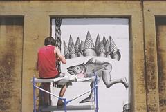 R1-01903-012A (The United States of Kyle Louis Fletcher) Tags: fish chicago man art film 35mm vintage pentax painter vivitar oakpark mesuper kylefletcher