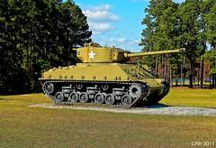 "406) Cordele GA - Georgia Veterans SP - Cannon Rd - M4A3E8 ""Easy Eight"" Sherman tank w/76 mm gun - right side [HX9V] (Houckster) Tags: statepark park ga georgia geotagged army tank coney sherman photostream cordele lakeblackshear 76mm crispcounty cannonroad m4a3e8 georgiaveteransstatepark houckster sonydschx9v"