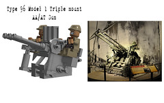 Type 96 Model 1 Triple mount 25mm AA-AT gun (Florida Shoooter) Tags: japanese lego ww2 ldd aaatgun jumpeimitsui type96model1triplemount25mmaaatgun