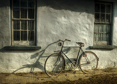 Me And My Shadows (RonnieLMills) Tags: county ireland light white bicycle nikon shadows cottage rusty down washed northern d90 trolled cunningburn kurtpeiserexcellence