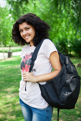 College Student in Park