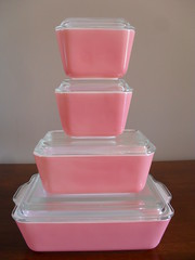 Pink Fridgies (prettypyrex) Tags: pink dishes refrigerator pyrex fridgies