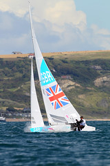 Olympic Games Weymouth (British Sailing Team) Tags: star afloat london2012 andrewsimpson oceanimages iainpercy