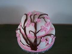 Cherry Blossom Cake by Elicia H. Birthday Cakes 4 Free, Santa Cruz, Ca.