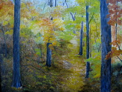 Autumn Walk -oil
