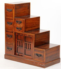 12. Asian Stepped Storage Cabinet