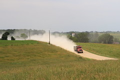 Dust, Cashton, 29 June 2012 (ed_needs_a_bicycle) Tags: road wisconsin rural truck unitedstates fields dust 2012 cashton sigmadc1770mmf284macrohsm