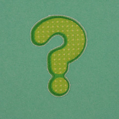 Puffy Sticker Punctuation question mark