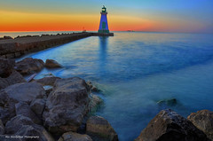 the outer lighthouse (Rex Montalban Photography) Tags: sunset niagara stcatharines portdalhousie nikond7000 rexmontalbanphotography lighthousie