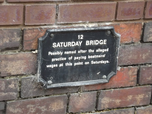Birmingham & Fazeley Canal - Saturday Bridge - plaque
