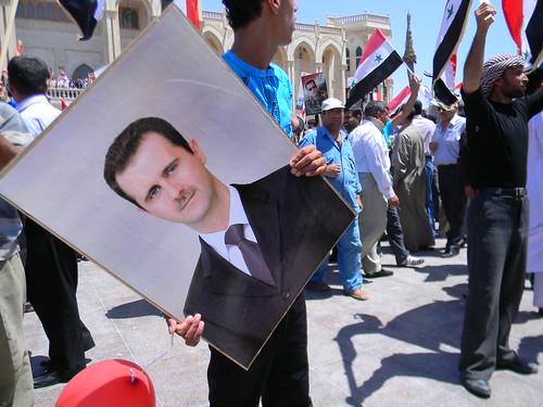 From flickr.com: Bashar al-Assad supporters {MID-205087}