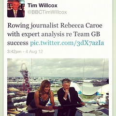 Yes that's me in BBC studio watching #rowing w...