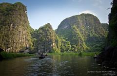 Tam Coc, Vietnam (NettyA) Tags: travel canon reflections river boats asia rice hills vietnam limestone southeast ninhbinh karsts tamcoc eos550d