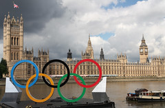 Olympic rings (Foreign and Commonwealth Office) Tags: london bigben rivers olympics 2012 foreignoffice fco ukforeignoffice