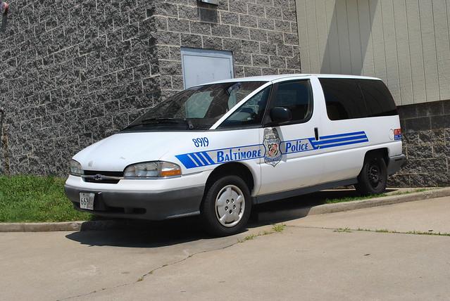 general police bowtie pd baltimore motors chevy unusual van minivan lumina dustbuster