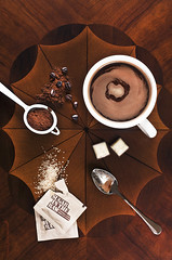 The taste of coffee (Fahad Al-Robah) Tags: brown cup coffee happy marketing beige panel propaganda paintings grain announcement