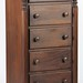 76. Walnut 5 Drawer Lengerie Chest
