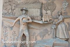 National Farmers Memorial in Kansas sculptural relief (Remsberg Photos) Tags: world usa america lawrence unitedstates farmers unitedstatesofamerica ag kansas agriculture sculpturalrelief americasandcaribbean nationalfarmersmemorial