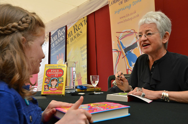 Jacqueline Wilson book signing for a fan