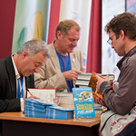 Frank Cottrell Boyce and Andrew Motion signing