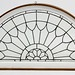 224. Antique Leaded Glass Transom Window